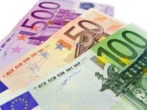 Notas de banco - euro Fotos de Stock
