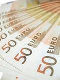 Notas de banco - euro Foto de Stock