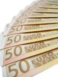 Notas de banco - euro Imagens de Stock
