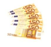 Notas de banco européias Fotos de Stock Royalty Free