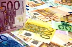 Notas de banco européias Imagem de Stock