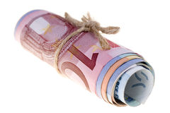 Notas de banco européias Imagens de Stock