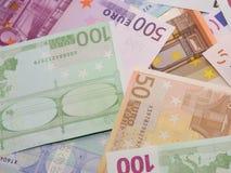 Notas de banco européias Fotografia de Stock