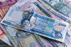 Notas de banco filipinos Fotos de Stock