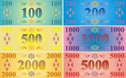 Notas de banco imaginárias Fotografia de Stock