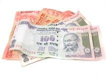 Notas de banco indianas. Imagens de Stock Royalty Free