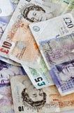 Notas de banco inglesas Fotos de Stock