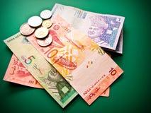 Notas de banco malaias Fotos de Stock