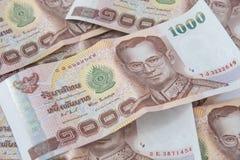 Notas de banco mil bahts Imagens de Stock
