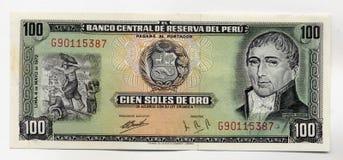 Notas de banco peruanas velhas foto de stock royalty free