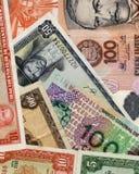 Notas de banco peruanas velhas Fotos de Stock