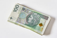 Notas de banco polonesas Zloty polonês PLN Fotos de Stock