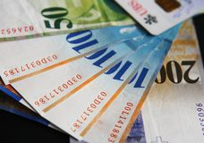 Notas de banco suíças do dinheiro Imagens de Stock