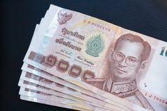 Notas de banco tailandesas Fotografia de Stock