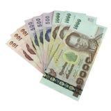 Notas de banco tailandesas imagens de stock royalty free