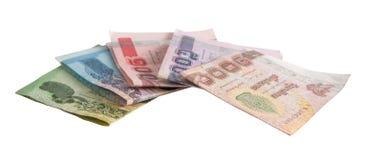 Notas de banco tailandesas Fotos de Stock