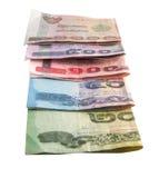 Notas de banco tailandesas Imagem de Stock Royalty Free