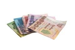 Notas de banco tailandesas Fotografia de Stock Royalty Free