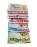 Notas de banco tailandesas Imagem de Stock