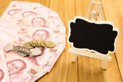 Notas de banco tailandesas Foto de Stock