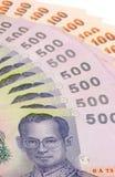 Notas de banco tailandesas Foto de Stock Royalty Free
