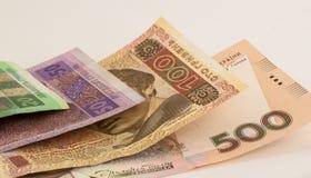 Notas de banco ucranianas Imagem de Stock