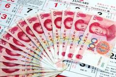 Notas de China Imagem de Stock Royalty Free