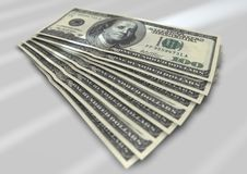 Notas de dólar Foto de Stock
