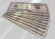 Notas de dólar Fotografia de Stock