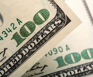 $100 notas de dólar Fotos de Stock