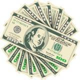 100 notas de dólar Fotografia de Stock Royalty Free