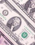 Notas de dólar abstratas do fundo diferente das denominações Fotografia de Stock Royalty Free