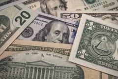 Notas de dólar de Bankontes fotografia de stock