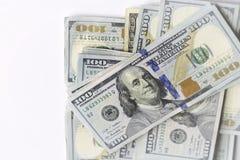 Notas de dólar do americano cem do dinheiro Imagem de Stock Royalty Free