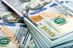 Notas de dólar do americano do dinheiro Foto de Stock Royalty Free