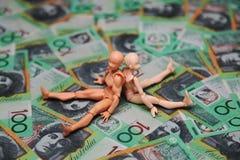 Notas de dólar do australiano 100 Fotografia de Stock