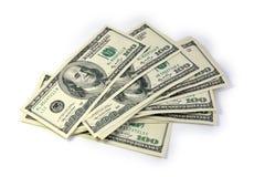 Notas de dólar dos E.U. cem Imagens de Stock Royalty Free