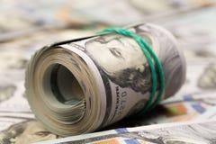 100 notas de dólar dos EUA, imagem imagens de stock royalty free