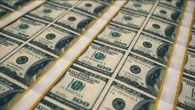 Notas de dólar, fundo do dinheiro video estoque
