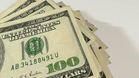 Notas de dólar, fundo do dinheiro vídeos de arquivo