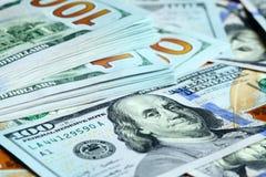 Notas de dólar novas Imagem de Stock