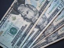 Notas de 20 dólares, Estados Unidos Imagen de archivo