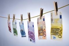 Notas de dinheiro do Euro Imagem de Stock
