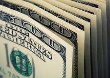$100 notas de dólar Imagens de Stock