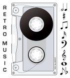 Notas de la cinta de cassette Imagen de archivo