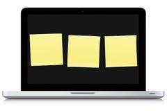 Notas de la computadora portátil Fotos de archivo