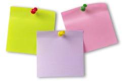 Notas de la etiqueta engomada Imágenes de archivo libres de regalías