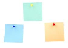 Notas de la etiqueta engomada Fotos de archivo libres de regalías