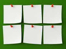 Notas de la etiqueta engomada aisladas Imagen de archivo libre de regalías