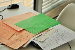 Notas de la física Imagen de archivo